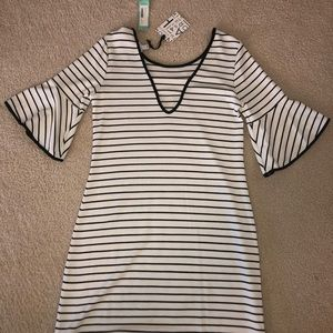 41 Hawthorn Black and White Stripes Dress